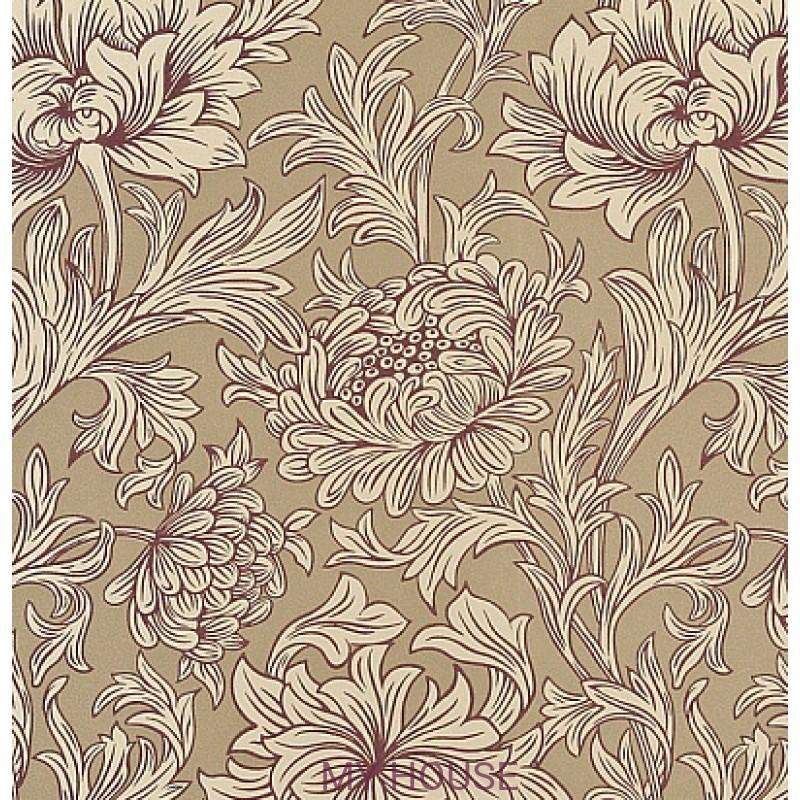 Обои Morris Volume V DMOWCH 102 Chrysanthemum Toile Morris&C