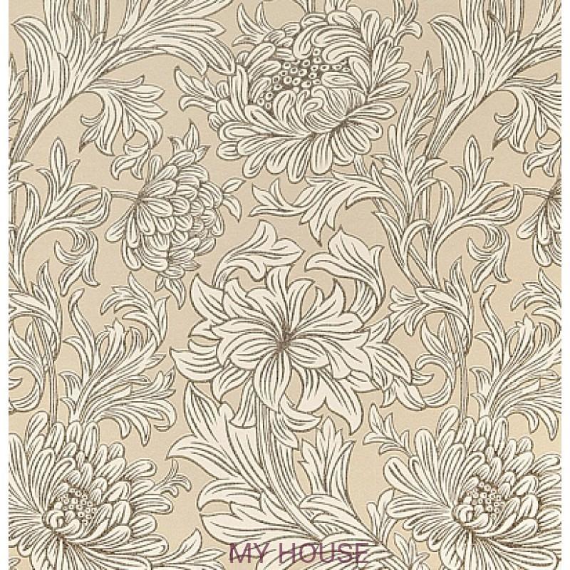 Обои Morris Volume V DMOWCH 103 Chrysanthemum Toile Morris&C