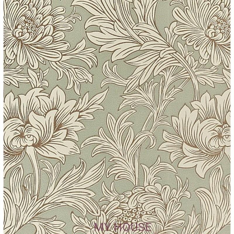 Обои Morris Volume V DMOWCH 104 Chrysanthemum Toile Morris&C