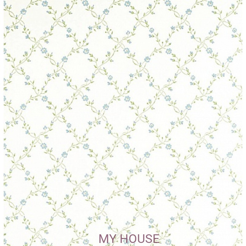 Обои Pemberley DPEMFM102  Forget Me Not Duck Egg/Cream Sanderson