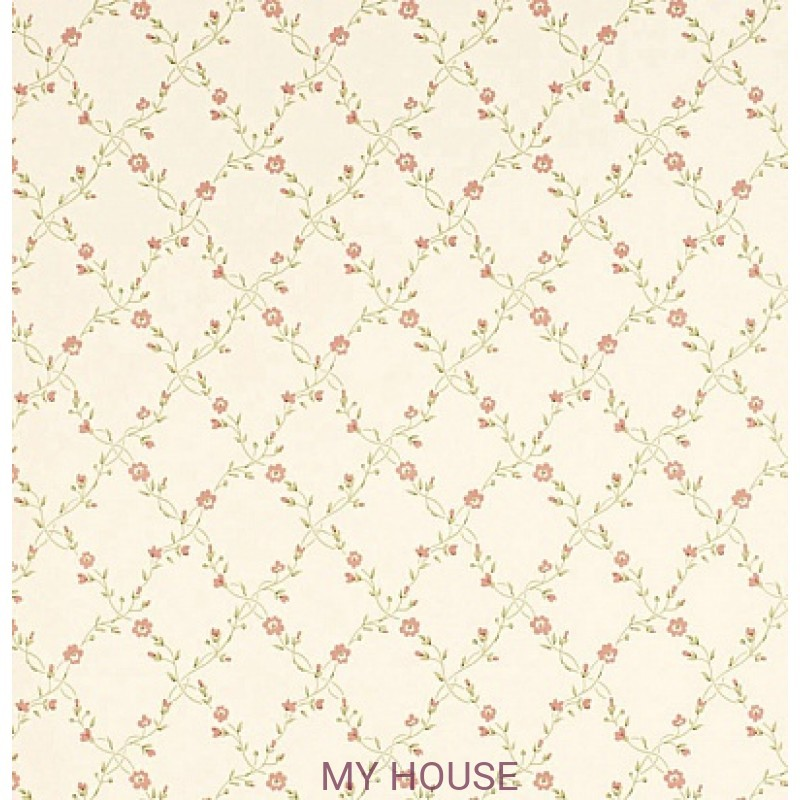 Обои Pemberley DPEMFM105  Forget Me Not Cream/Rose Sanderson