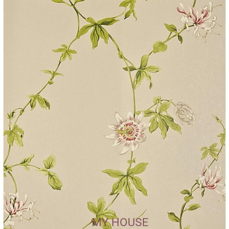 Обои Pemberley DPEMPF103  Passion Flower Linen/Cerise Sanderson