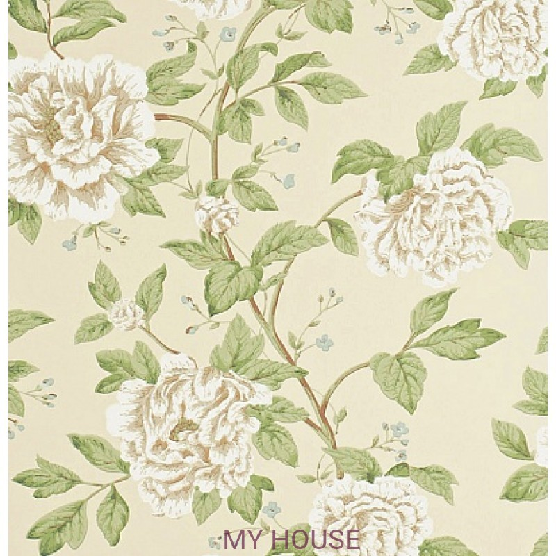 Обои Pemberley DPEMPT103  Peony Tree Neutral/Duck Egg Sanderson
