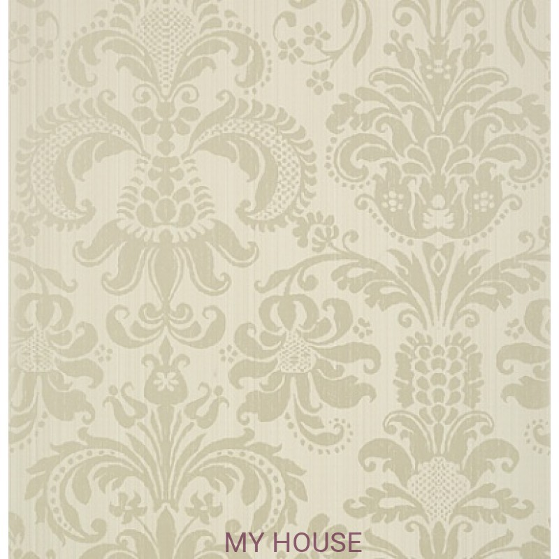 Обои Damask Resource T89170 Pearl on Linen THIBAUT