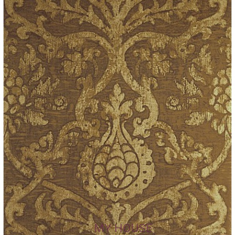Обои Damask Resource T89176 Gold on Foil THIBAUT