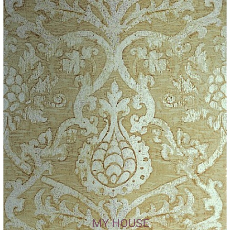 Обои Damask Resource T89178 Champagne on Foil THIBAUT