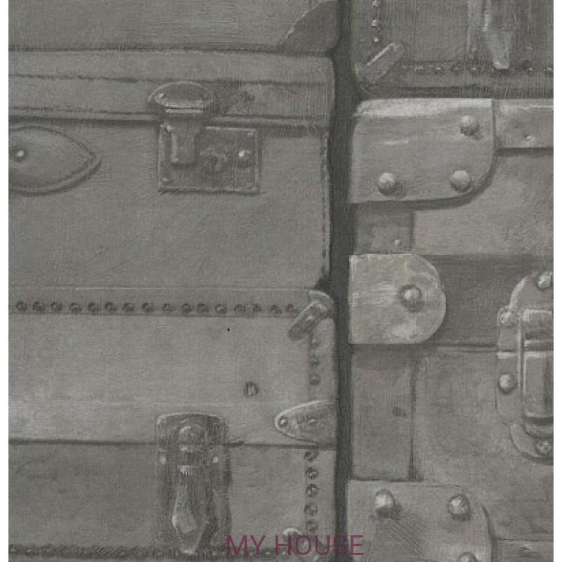 Обои Engineer Luggage LU01 Gunmetal Andrew Martin