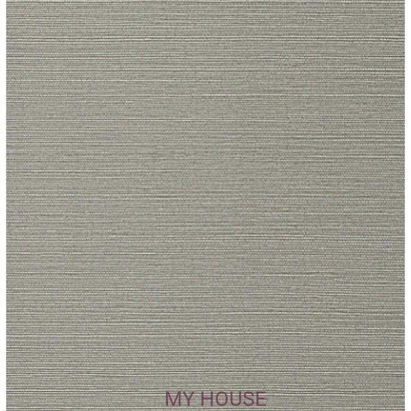 Обои Faux Resource T75150 Taluk Текстиль Dark Grey THIBAUT