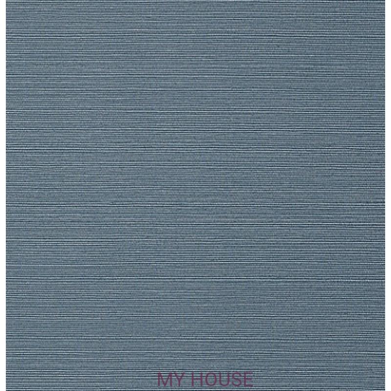 Обои Faux Resource T75156 Taluk Текстиль Blue THIBAUT