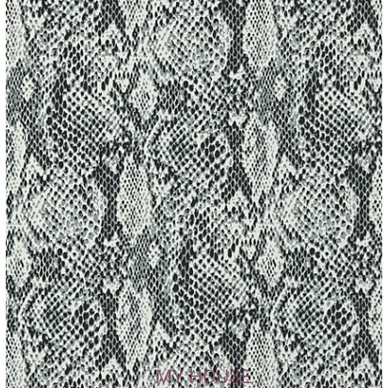 Обои Faux Resource T75169 Boa Black and White THIBAUT