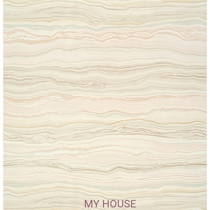 Обои Faux Resource T75172 Treviso Marble Blush THIBAUT