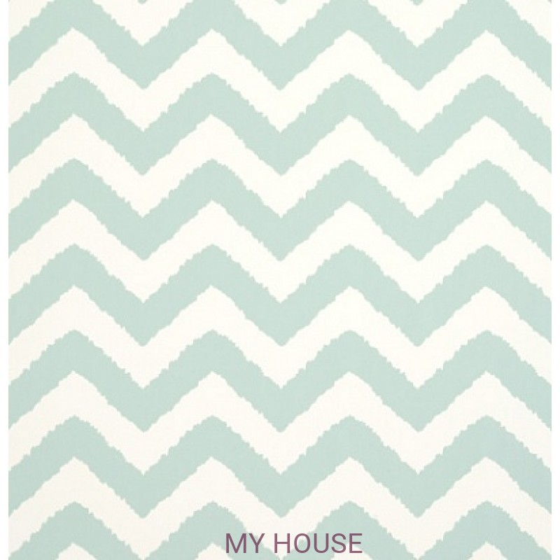 Обои Graphic Resource T35188 Widenor Chevron Aqua THIBAUT