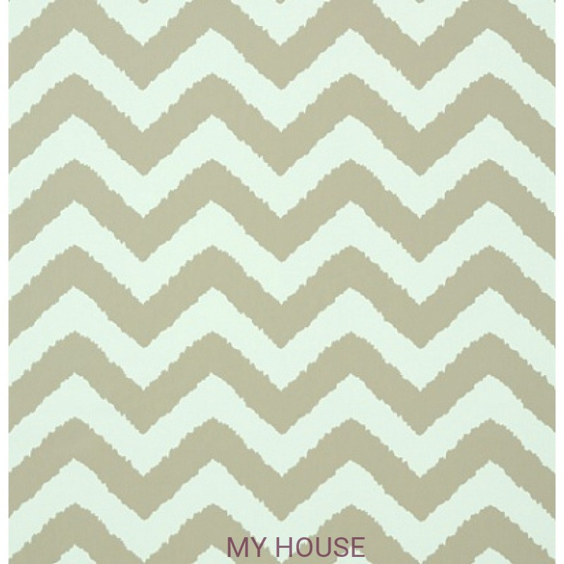 Обои Graphic Resource T35189 Widenor Chevron Taupe on Aqua THIBA
