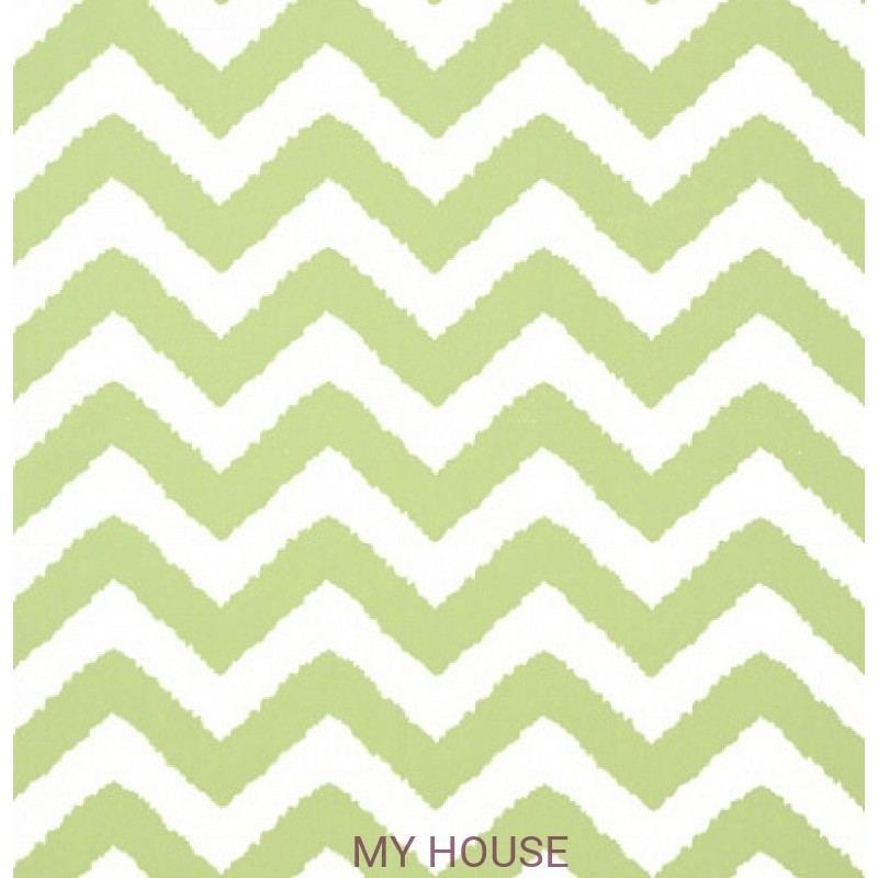 Обои Graphic Resource T35190 Widenor Chevron Green THIBAUT