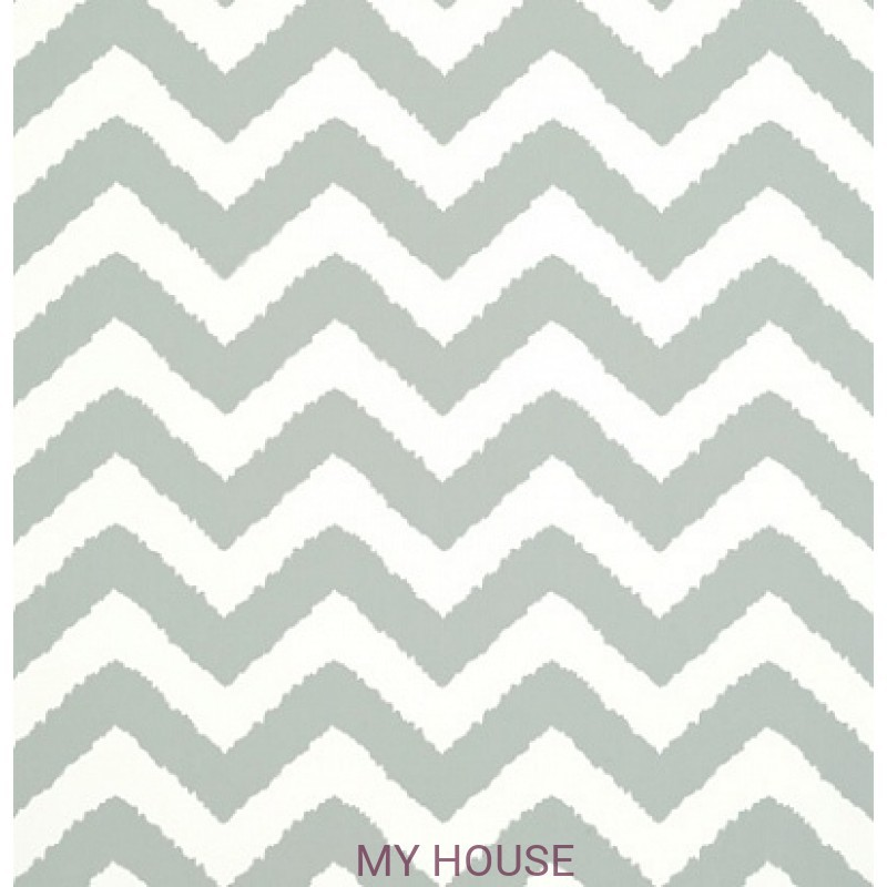 Обои Graphic Resource T35191 Widenor Chevron Charcoal THIBAUT