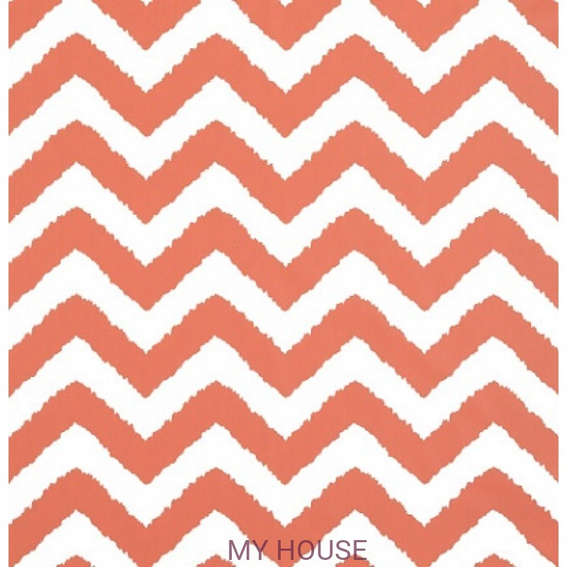 Обои Graphic Resource T35192 Widenor Chevron Coral THIBAUT