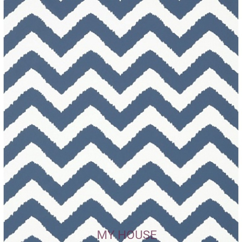 Обои Graphic Resource T35193 Widenor Chevron Navy THIBAUT