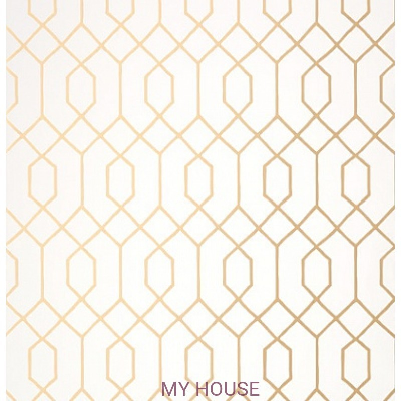 Обои Graphic Resource T35196 La Farge Metallic Gold THIBAUT