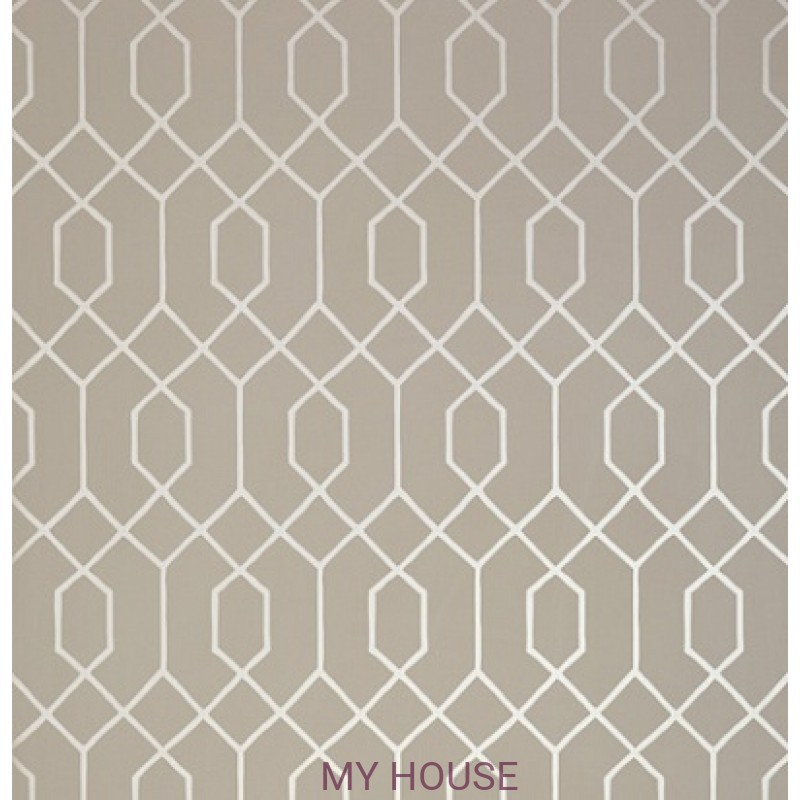 Обои Graphic Resource T35203 La Farge Metallic Pewter on Taupe T