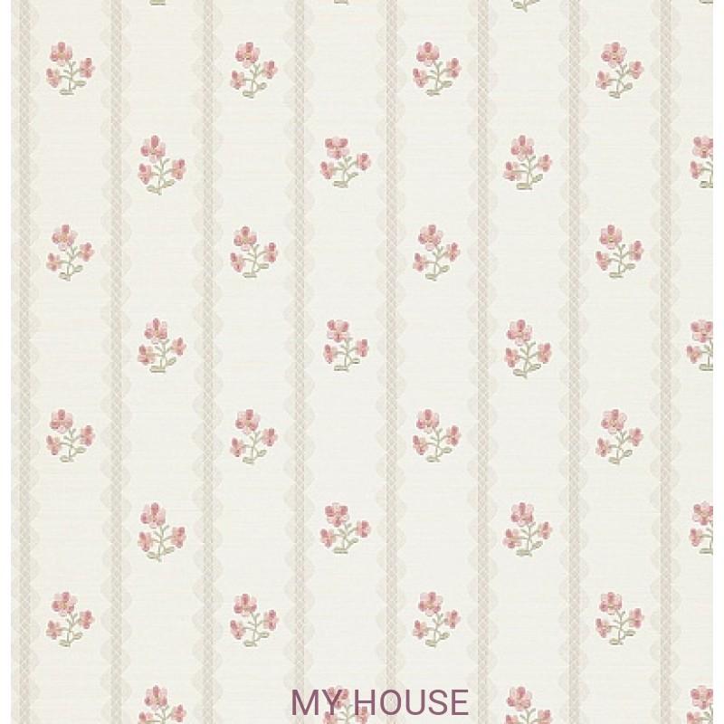 Обои Honfleur Wallpaper Collec DHONAM102 Amelie Linen/Rose Sande
