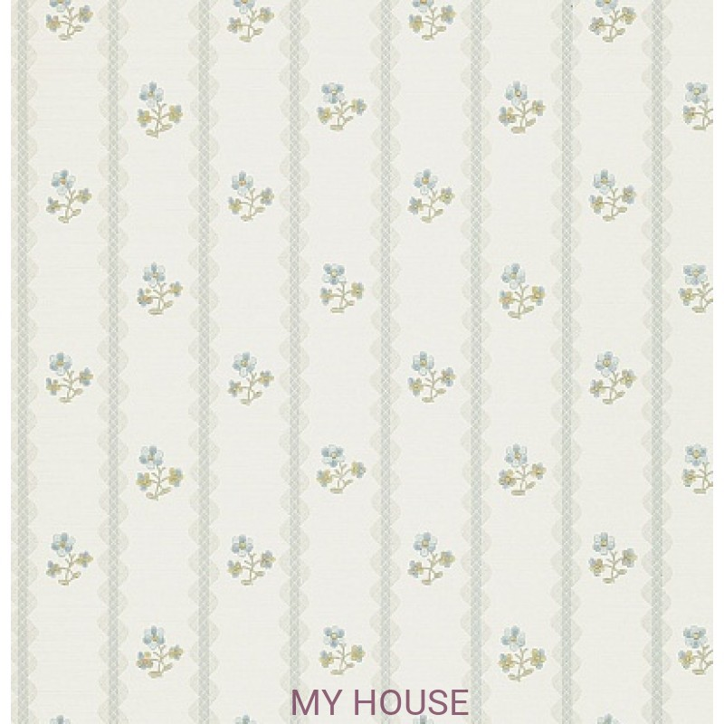Обои Honfleur Wallpaper Collec DHONAM103 Amelie Duck Egg/Blue Sa
