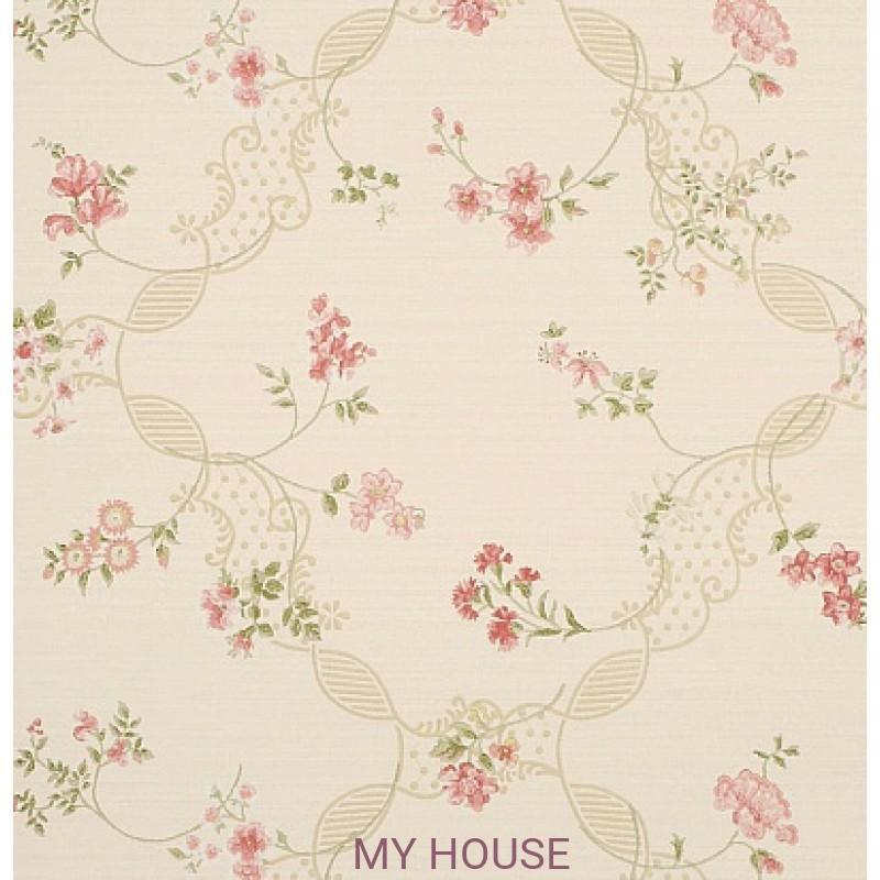 Обои Honfleur Wallpaper Collec DHONAN101 Anna Maria Cream/Rose S