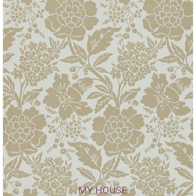 Обои Honfleur Wallpaper Collec DHONDA104 Dauphine Eggshell/Gold