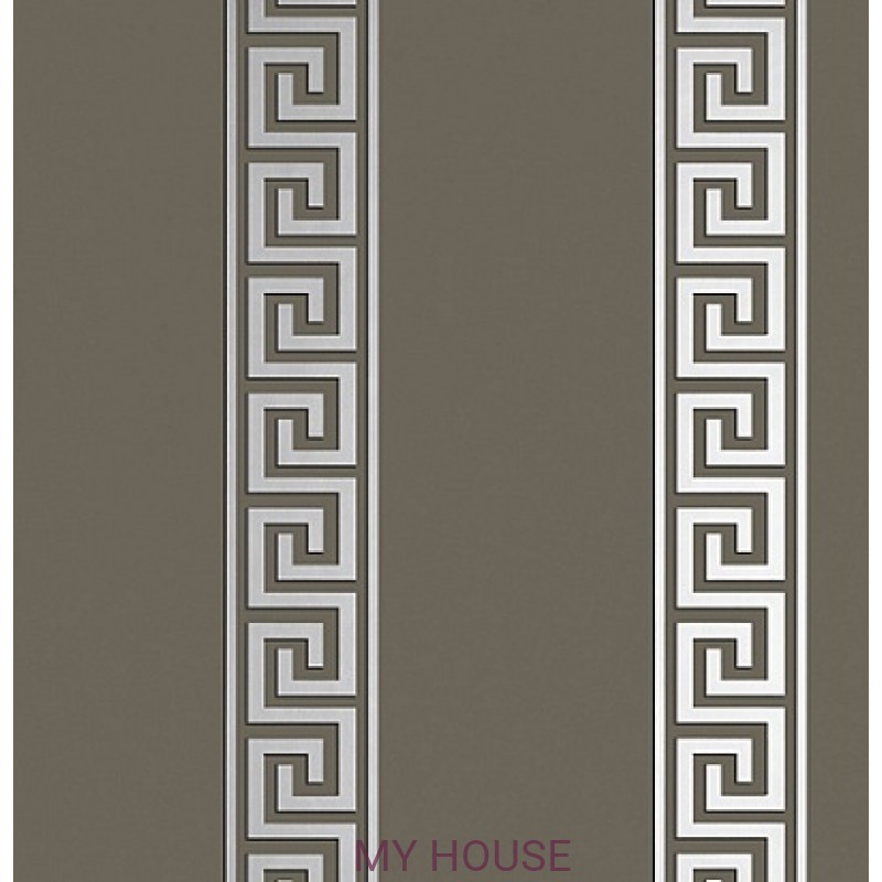 Обои Imperial Garden T14245 Andreas Stripe Metallic Silver on Ch