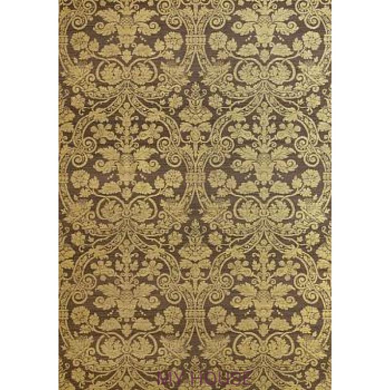 Обои Menswear Resource T1007 Metallic Gold on Brown THIBAUT