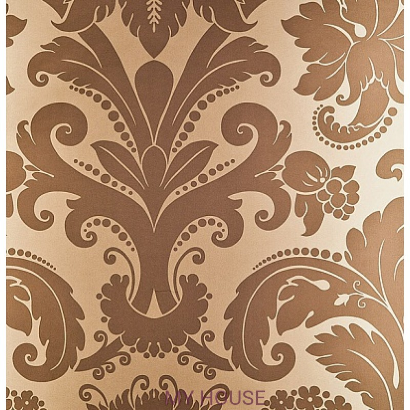 Обои Nureyev Wallpaper NUP01003 Villiers-Chocolate Zoffany