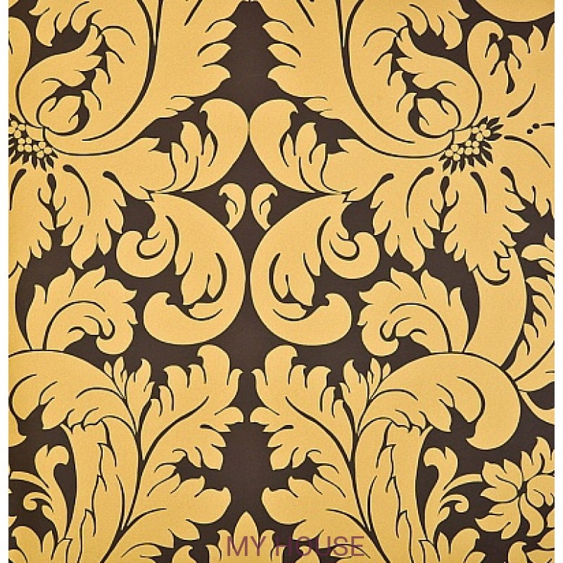Обои Nureyev Wallpaper NUP03005 Nureyev-Chocolate Zoffany