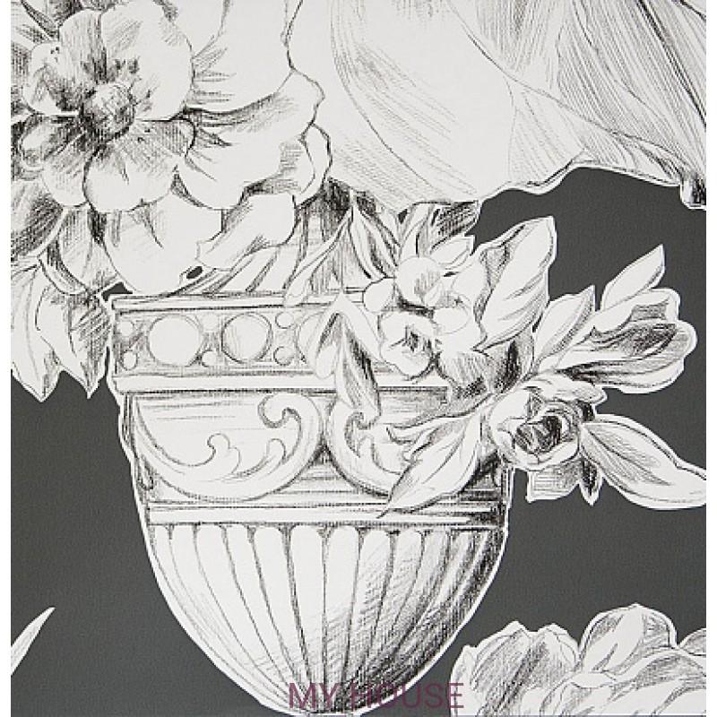 Обои Zephirine P546/04 Palmieri Charcoal Designers Guild