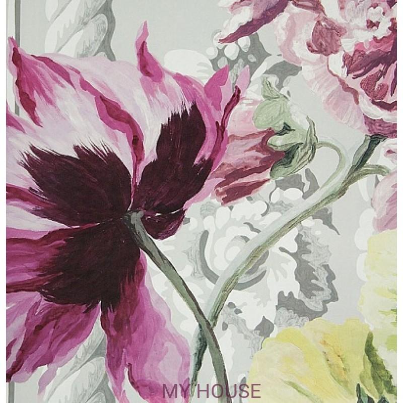 Обои Zephirine P549/01 Bosquet Panel Print Rose Designers Guild