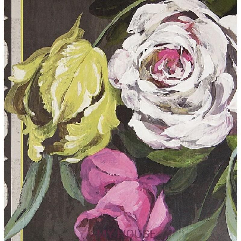 Обои Zephirine P551/01 Ornamental Garden Panel Print Slate Desig