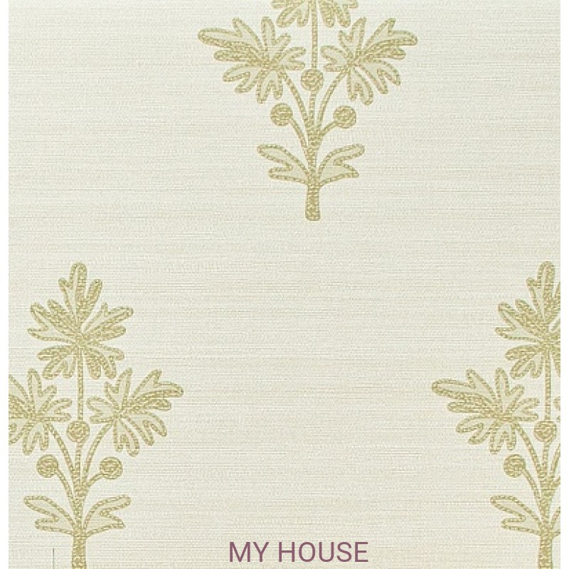 Обои Papered Walls PAW03001 Tussah Flower Bleached/Pear Zoffany