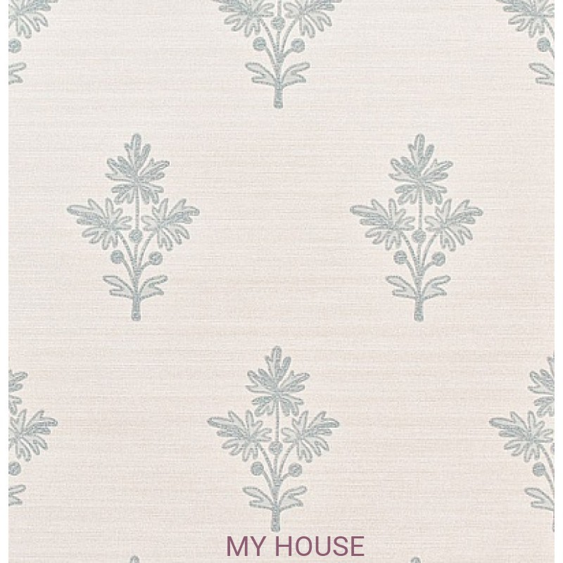 Обои Papered Walls PAW03005 Tussah Flower Bleached/Blue Zoffany
