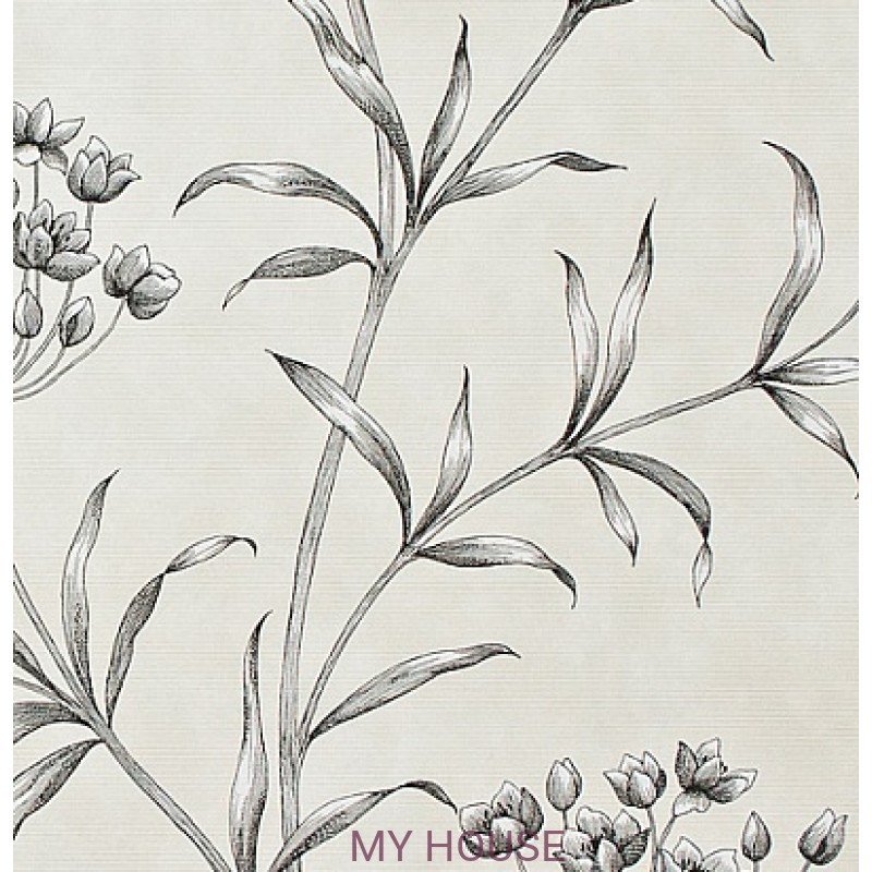 Обои Papered Walls PAW04003 Agapanthus Charcoal Zoffany