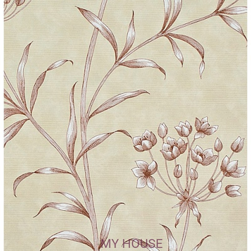 Обои Papered Walls PAW04004 Agapanthus Red Zoffany