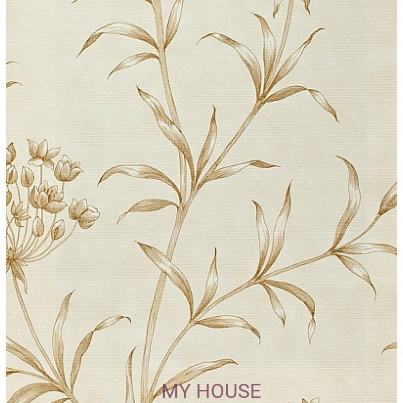 Обои Papered Walls PAW04006 Agapanthus Gold Zoffany