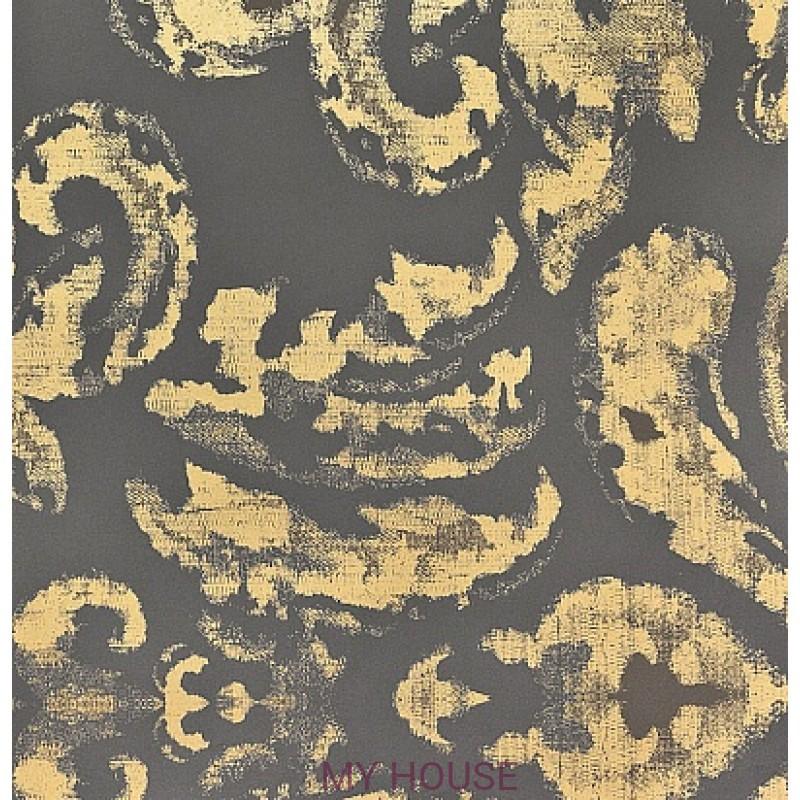 Обои Persia PEW06001 Gossamer Charcoal/Gold Zoffany