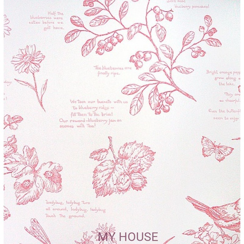 Обои Family Places PLWP-62214 Nature Study Toile Ralph Lauren