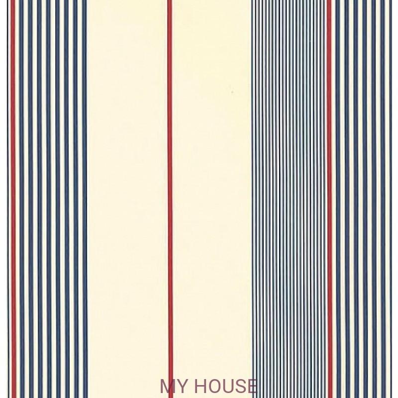 Обои Stripes and Plaids PRL020-01 Aiden Stripe Ralph Lauren
