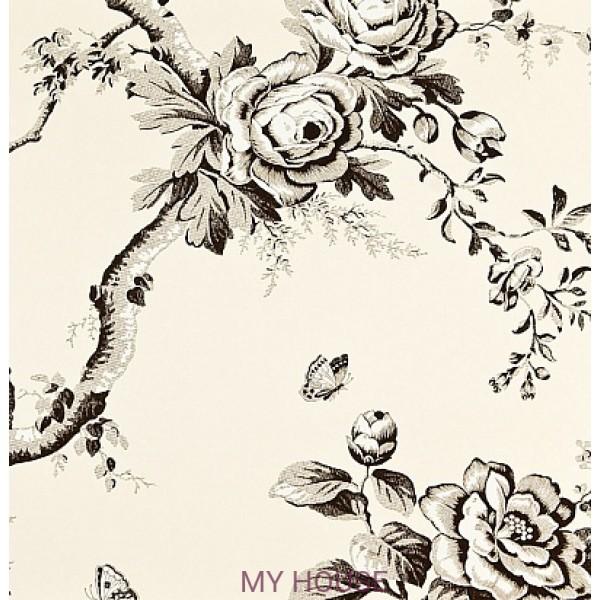 черно-белые обои с цветами PRL027/03