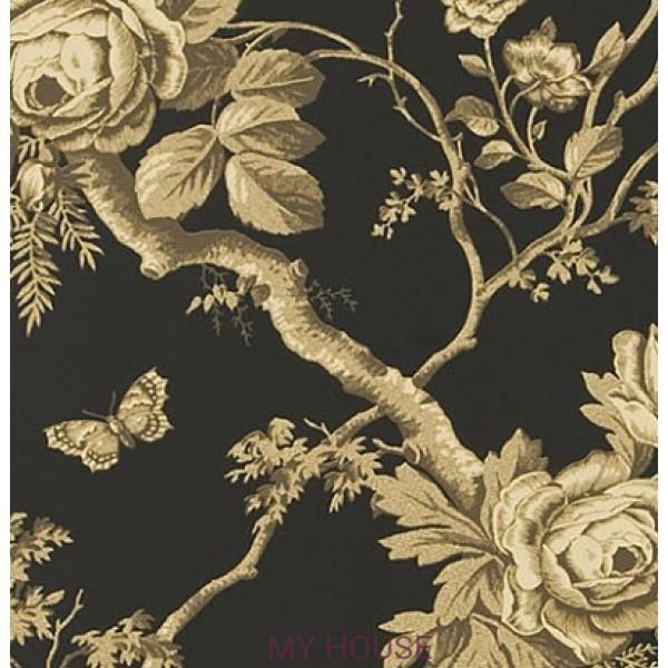 черные обои с розами PRL027/06