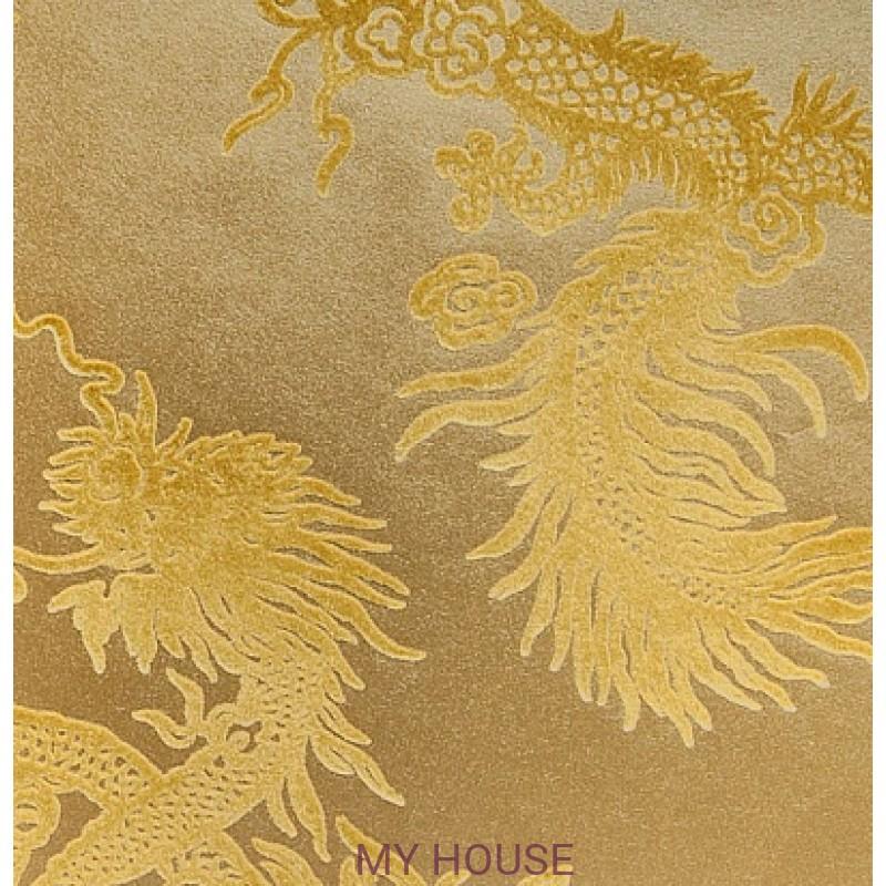 Обои Signature Century Club PRL046/03 Jinping Dragon Champagne R