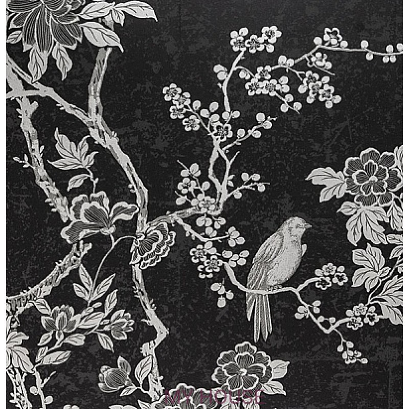 Обои Signature Century Club PRL048/01 Marlowe Floral Marcasite R