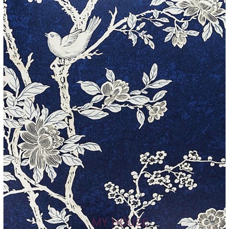 Обои Signature Century Club PRL048/04 Marlowe Floral Prussian Bl