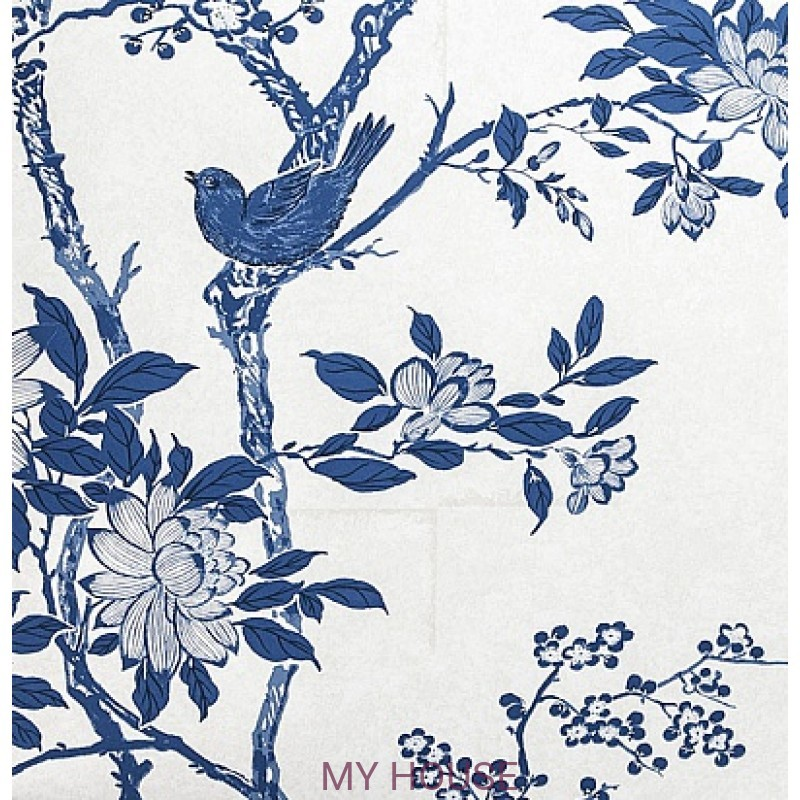 Обои Signature Century Club PRL048/05 Marlowe Floral Porcelain R