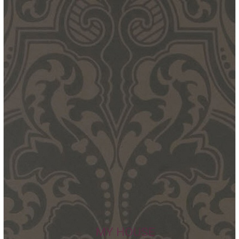 Обои Signature Papers II PRL055/01 GWYNNE DAMASK JET Ralph Laure
