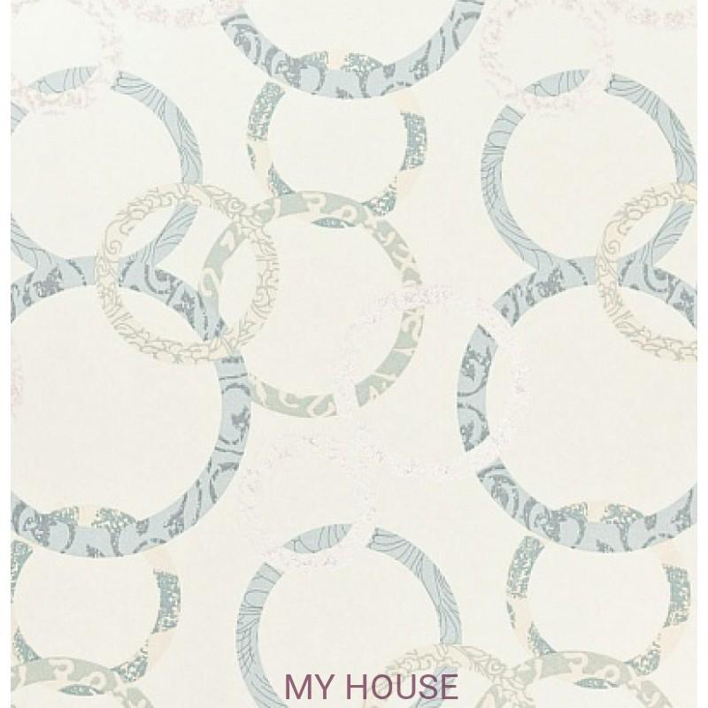 Обои Homes&Gardens II PW78019/2 Roundel Aqua/Teal/Cream Bake